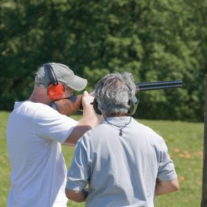 Kids & Clays® Sponsor Shooting Clay Pigeon