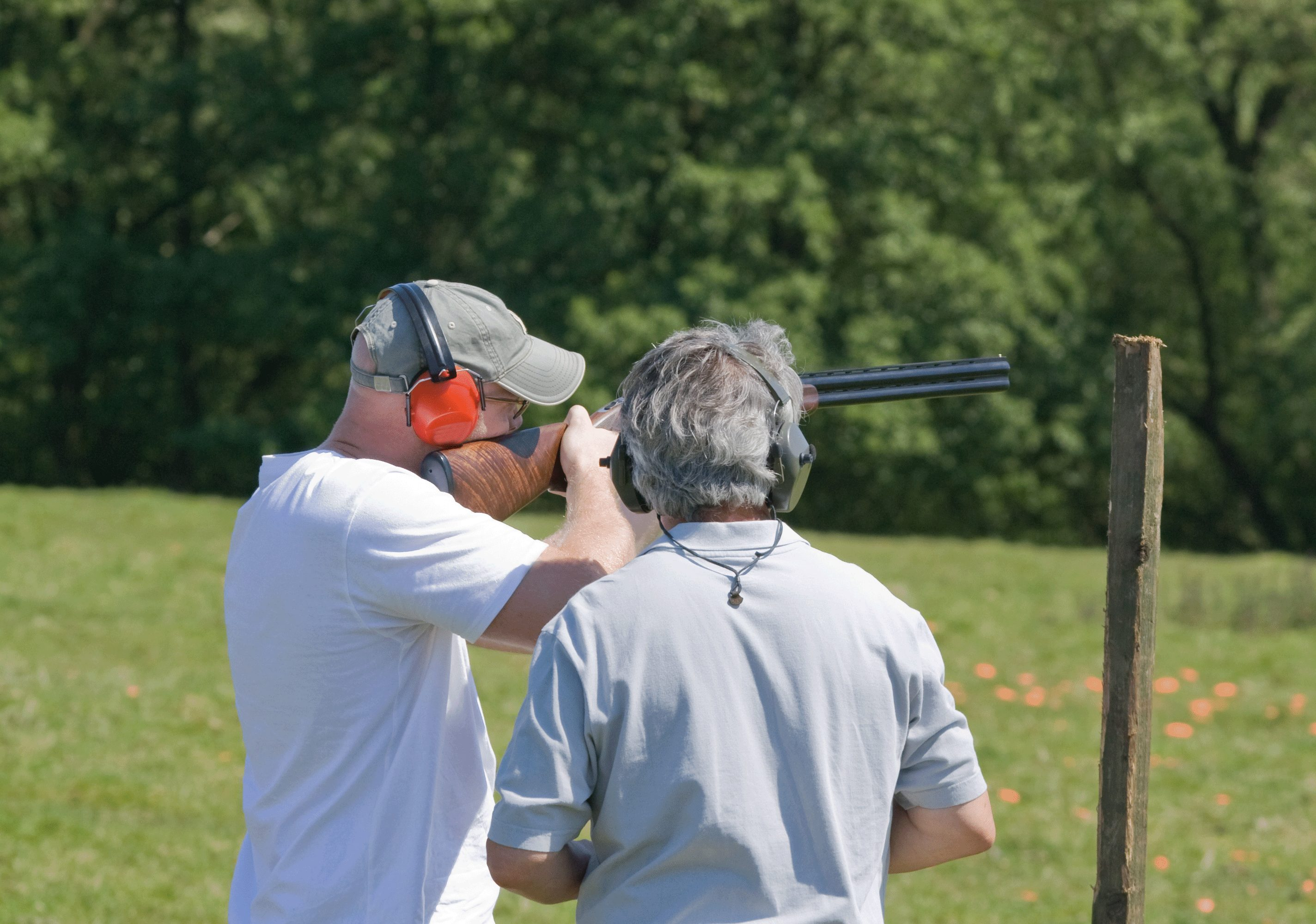 Kids & Clays® Sponsor Shooting Clay Pigeon